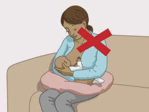 The mother cannot breast-feed her child.