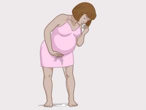 Signaal van een naderende bevalling: water breekt