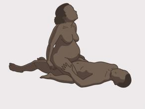Pregnant woman having sexual intercourse while sitting on top of the man.