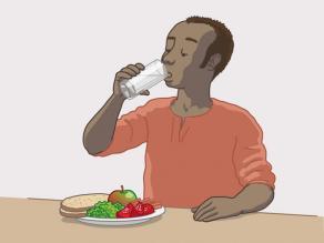 Eet gezond.
