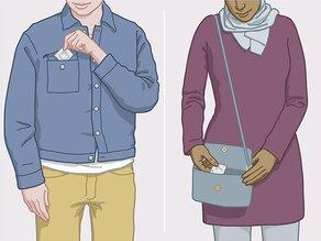 Ne mettez pas de préservatif dans votre portefeuille. Mettez le préservatif dans votre sac à main, par exemple, ou dans la poche de votre manteau ou de chemise.
