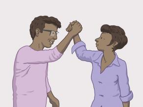 Homme et femme manifestant du respect l'un envers l'autre