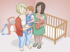 Lesbian women with their children